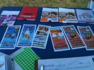 table at health fair