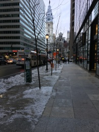 Downtown Philadelphia in the winter.