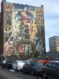 Mural on the side of a building in Philadelphia.