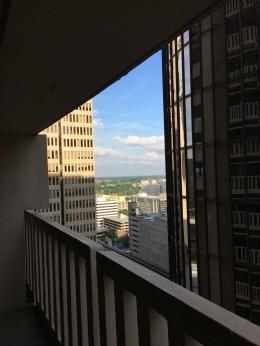 Atlanta skyline from the 17th floor of the Hyatt Regency Hotel