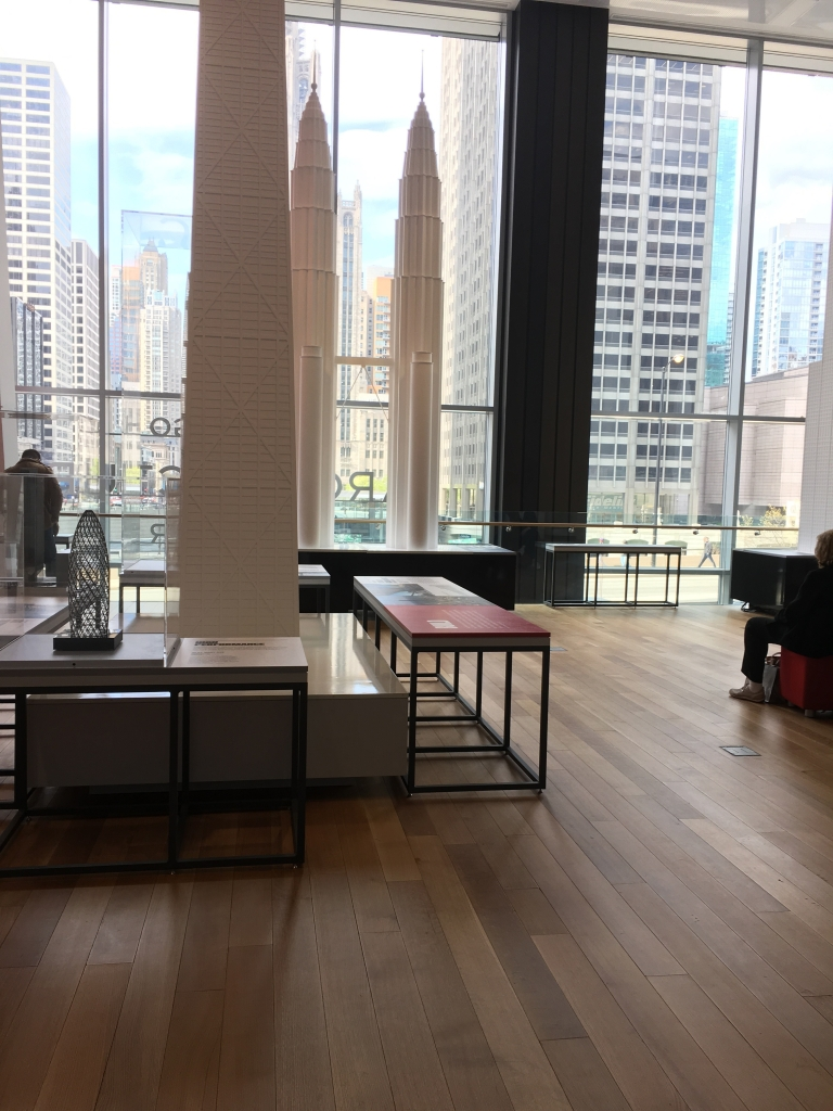 Interior of the Chicago Architecture Center museum.